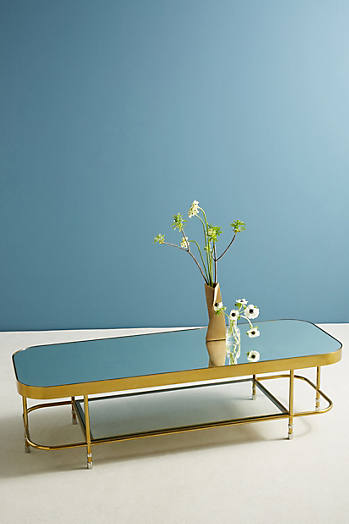 Slide View: 1: Brass Parabola Coffee Table