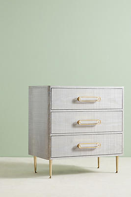 Slide View: 1: Odetta Three-Drawer Dresser