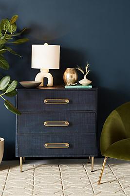 Slide View: 1: Odetta Three-Drawer Dresser