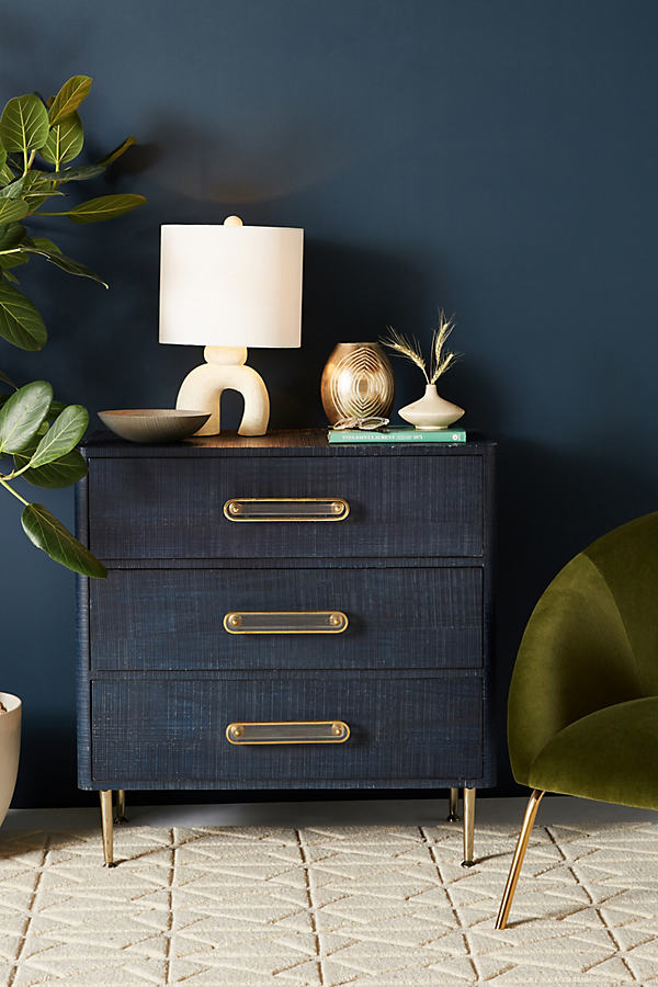 Odetta Three-Drawer Dresser - Navy