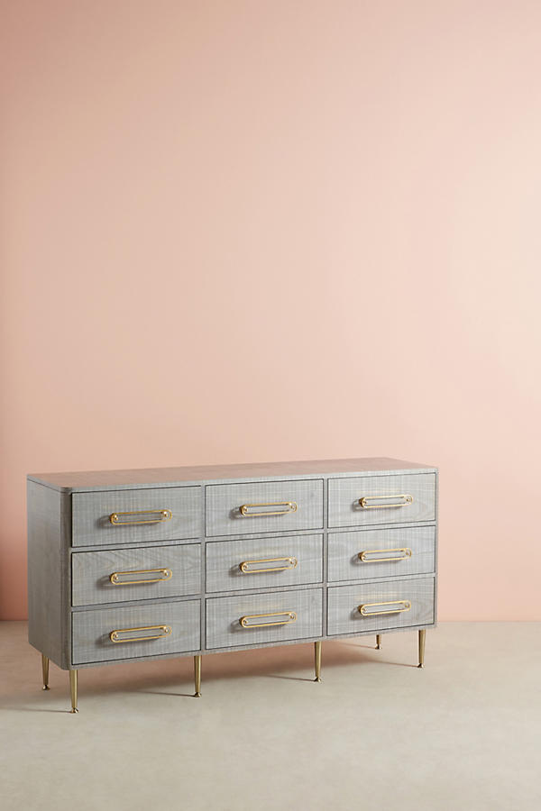 Slide View: 1: Odetta Nine-Drawer Dresser