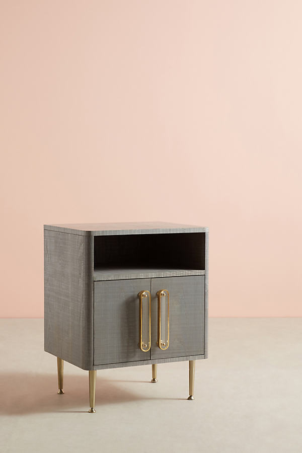 Odetta Nightstand - Light Grey