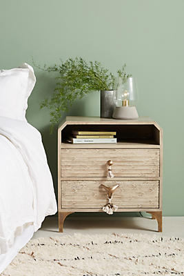 Slide View: 1: Zagora Tasseled Nightstand