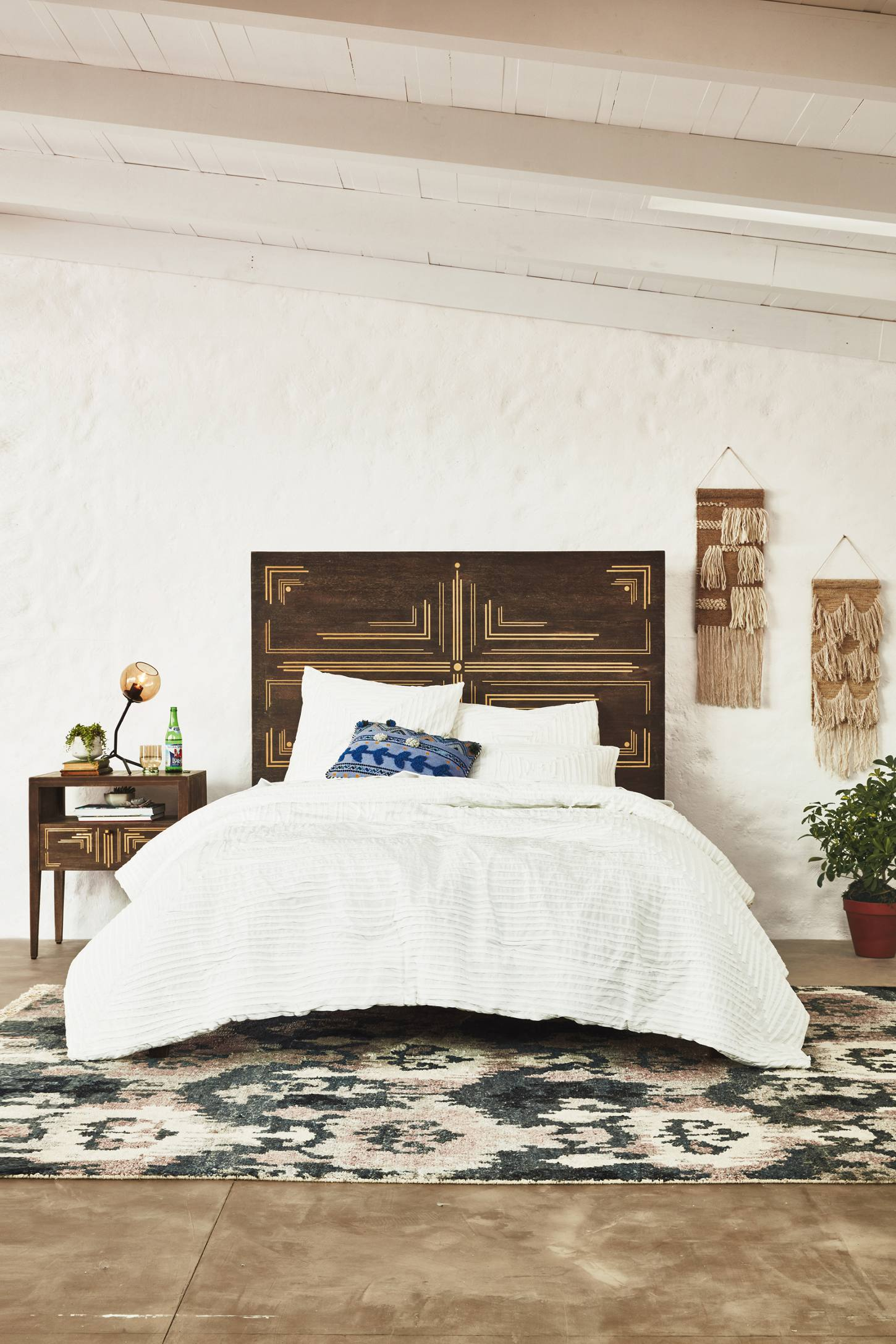 Zoom Room Bed Reviews Geo Brass Inlay Bed Anthropologie