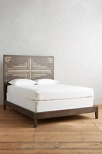 geo brass inlay bed