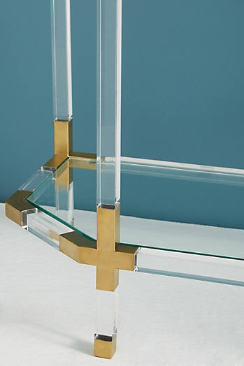 Slide View: 2: Oscarine Lucite Console