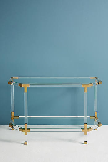 Slide View: 3: Oscarine Lucite Console