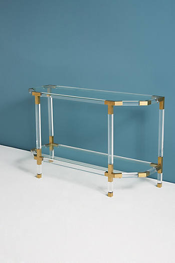 Slide View: 1: Oscarine Lucite Console