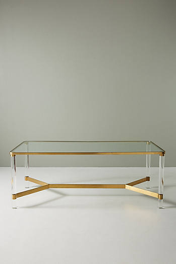 Slide View: 2: Oscarine Lucite Dining Table