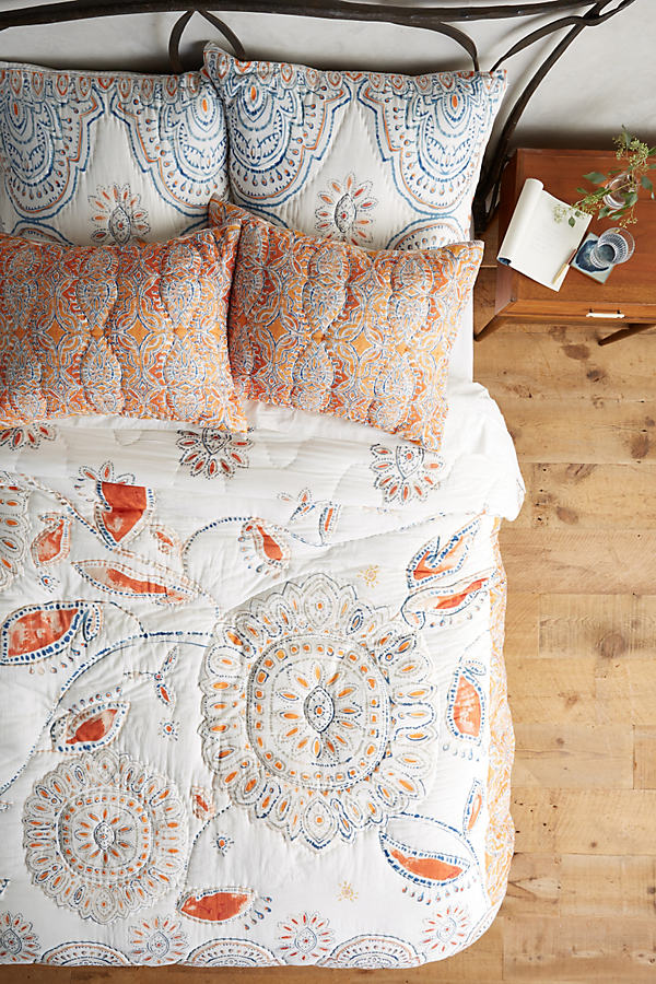 Kitula Square Pillowcase - Orange, Size Squar Sham