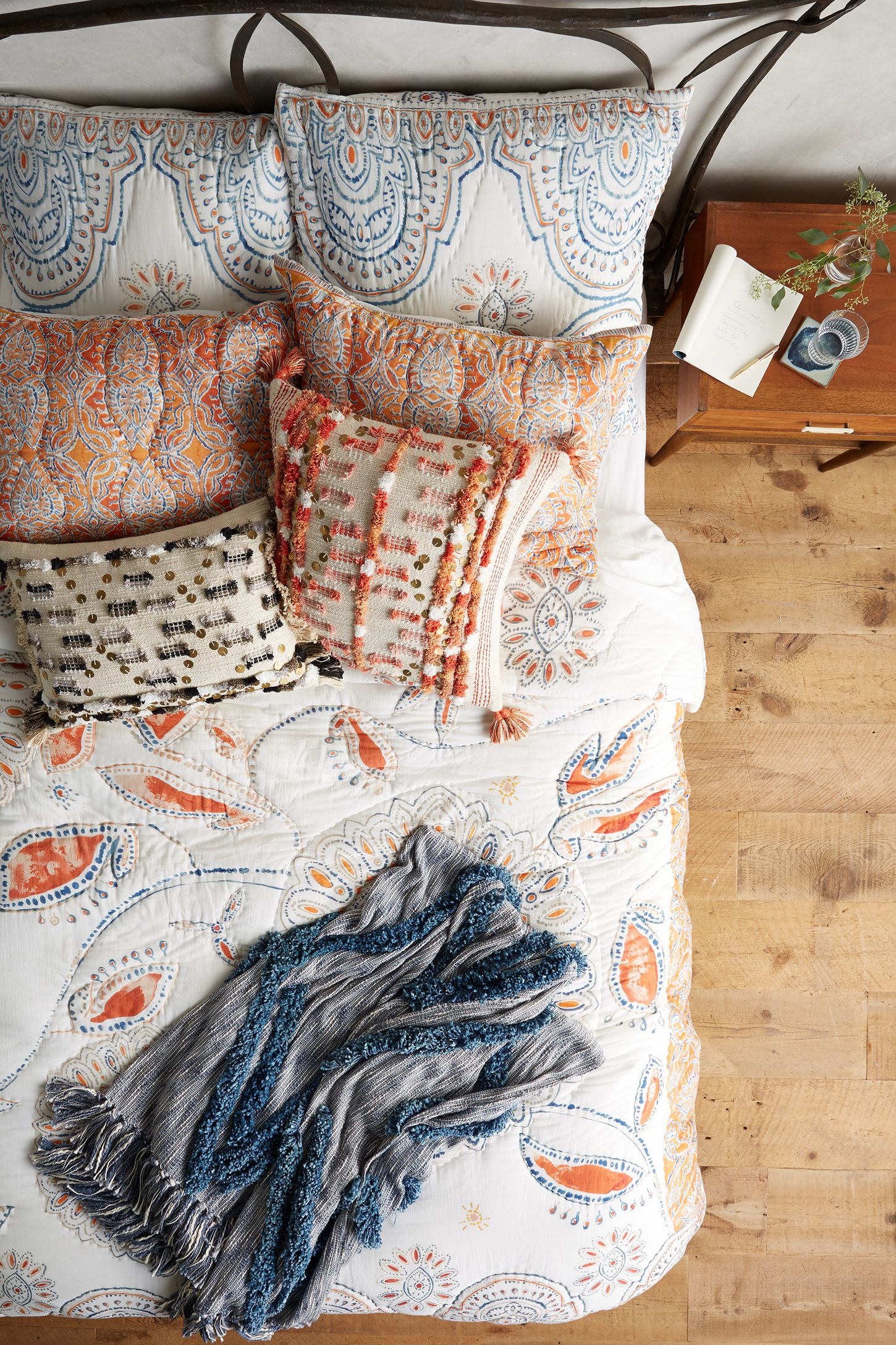 free quilt bohemian bedding topanga sale today product overstock shipping on floral set orange bath