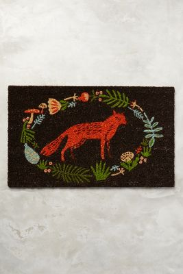 Ringed Fox Doormat 38