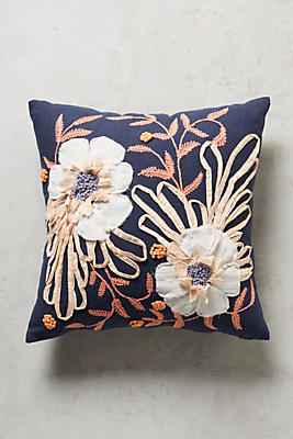 Slide View: 1: Embroidered Samia Pillow