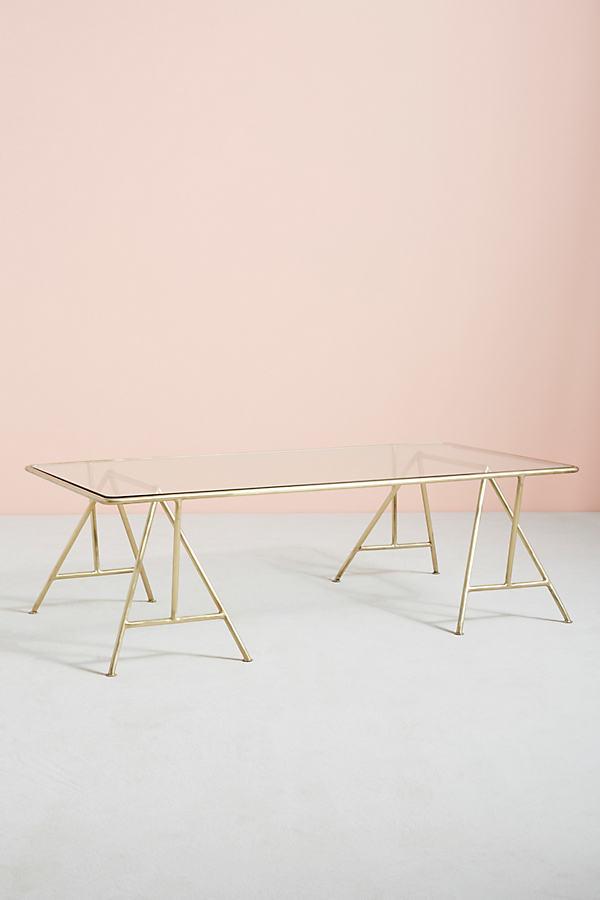 Isosceles A-Frame Coffee Table - Gold