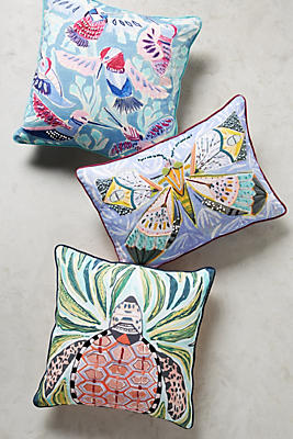 Slide View: 4: Painted Fauna Pillow