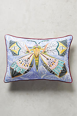 Slide View: 1: Painted Fauna Pillow