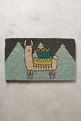 Mountain Llama Doormat