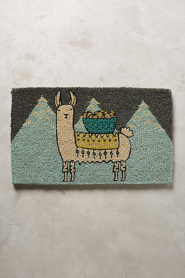Slide View: 1: Mountain Llama Doormat