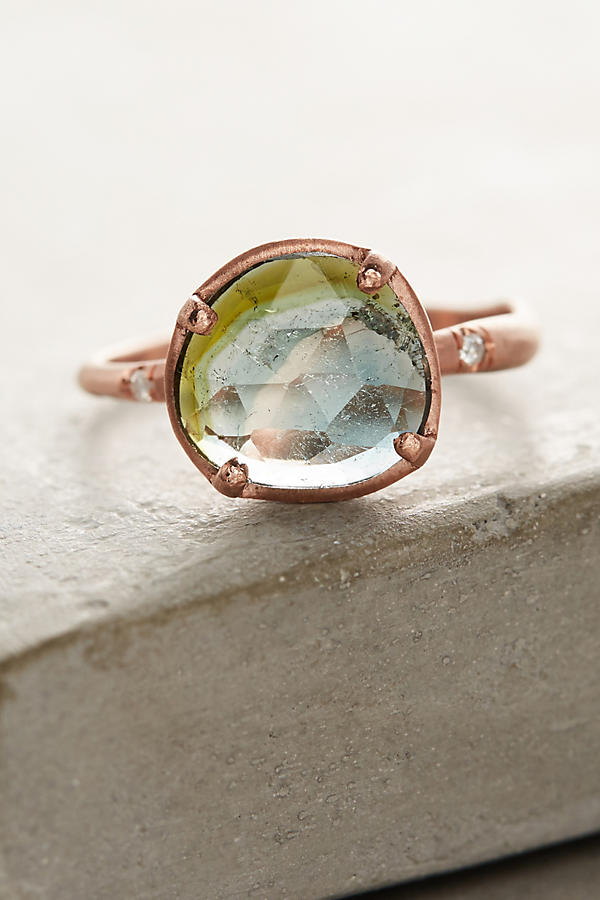 Slide View: 2: One-Of-A-Kind Watermelon Tourmaline Ring