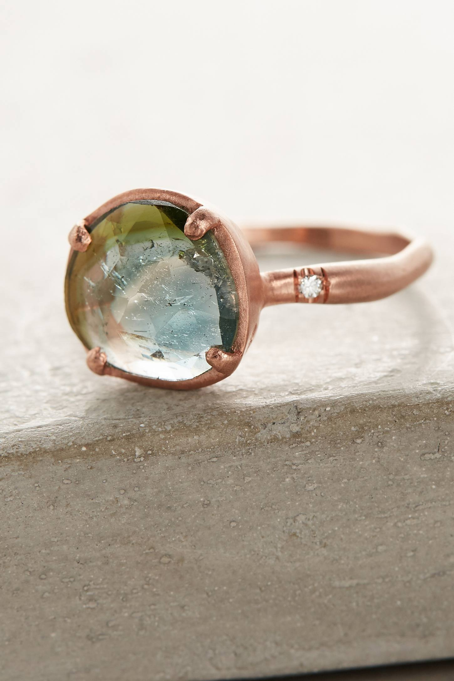 Slide View: 1: One-Of-A-Kind Watermelon Tourmaline Ring