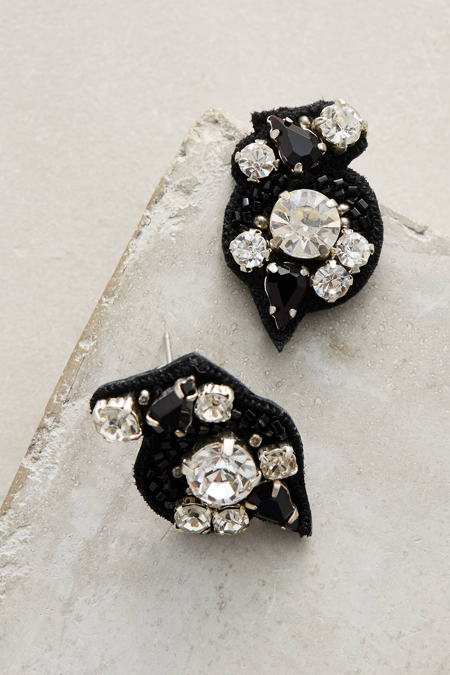Gabby Black Cluster Earrings