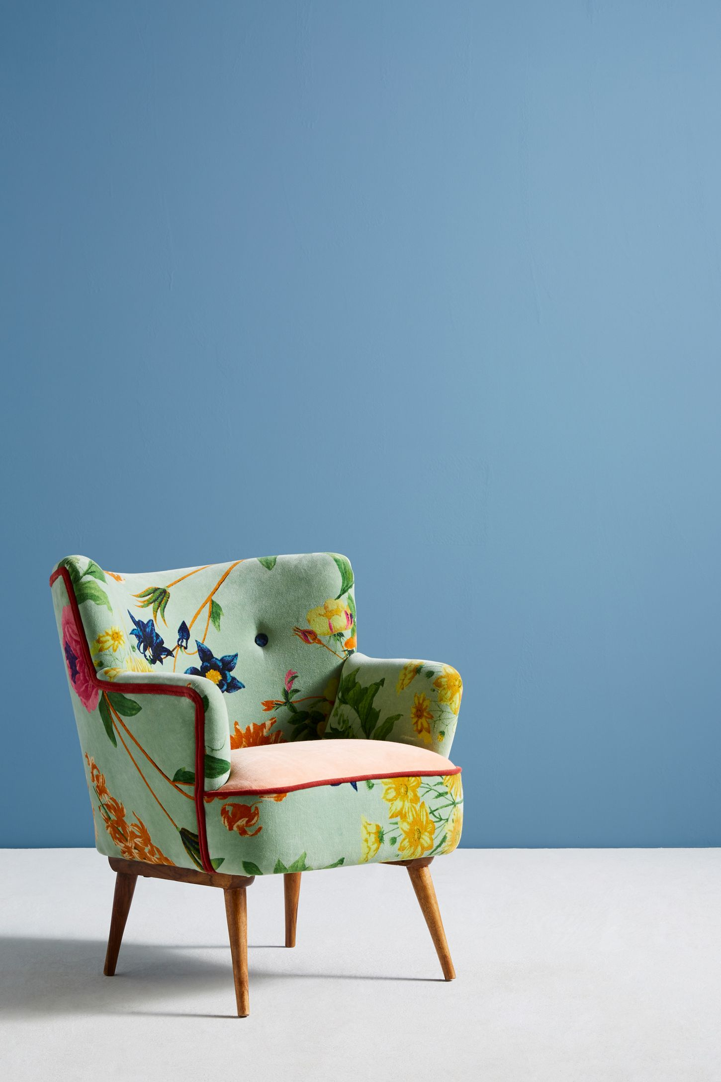 Teal Chair Floret Accent Chair Anthropologie