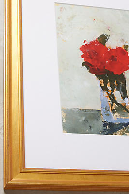 Anthropologie Wall Art red floral wall art | anthropologie