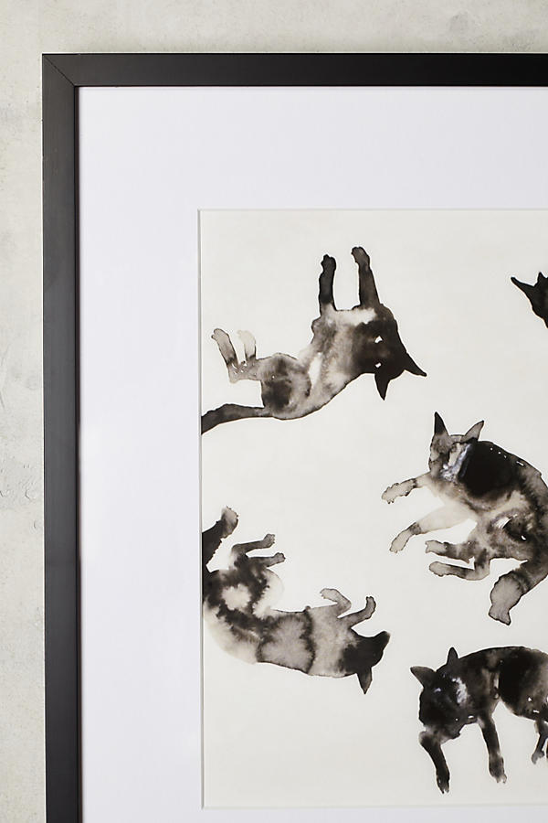 Slide View: 2: Lying Dogs Wall Art