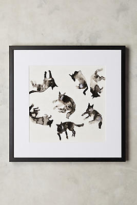 Anthropologie Wall Art lying dogs wall art | anthropologie