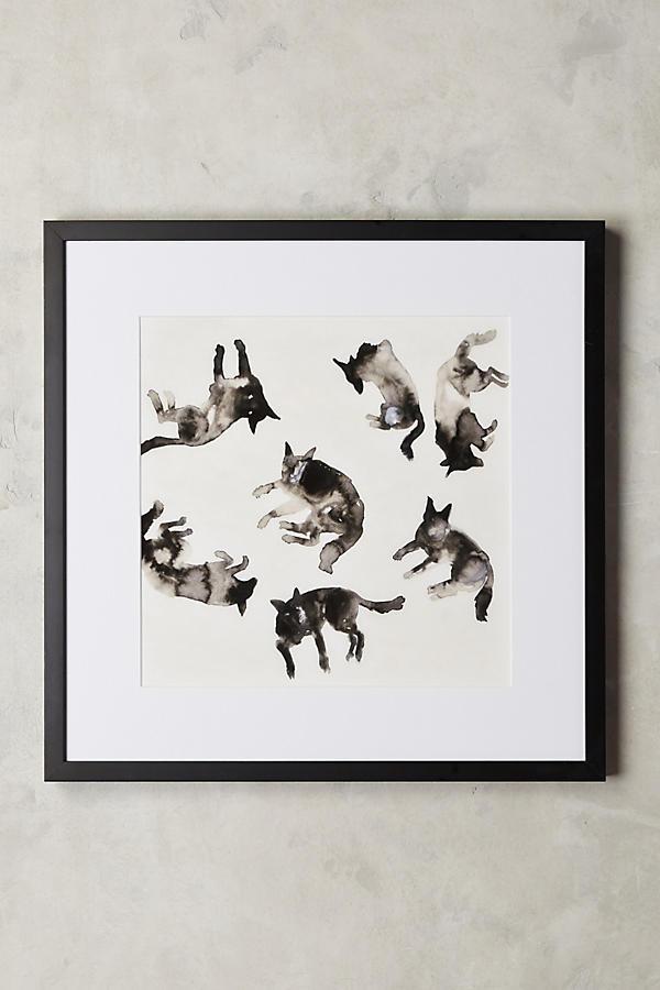 Slide View: 1: Lying Dogs Wall Art