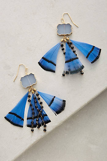 Feathered Druzy Earrings