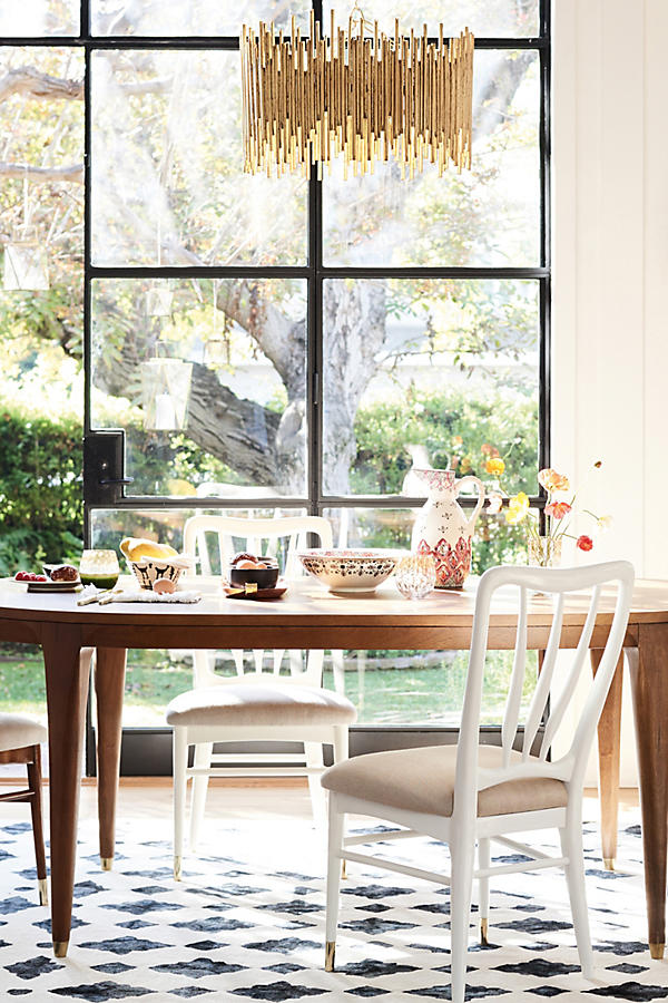 Slide View: 5: Walcotte Dining Table, Oval - Walcotte Dining Table, Oval Anthropologie