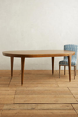 Slide View: 1: Walcotte Dining Table, Oval