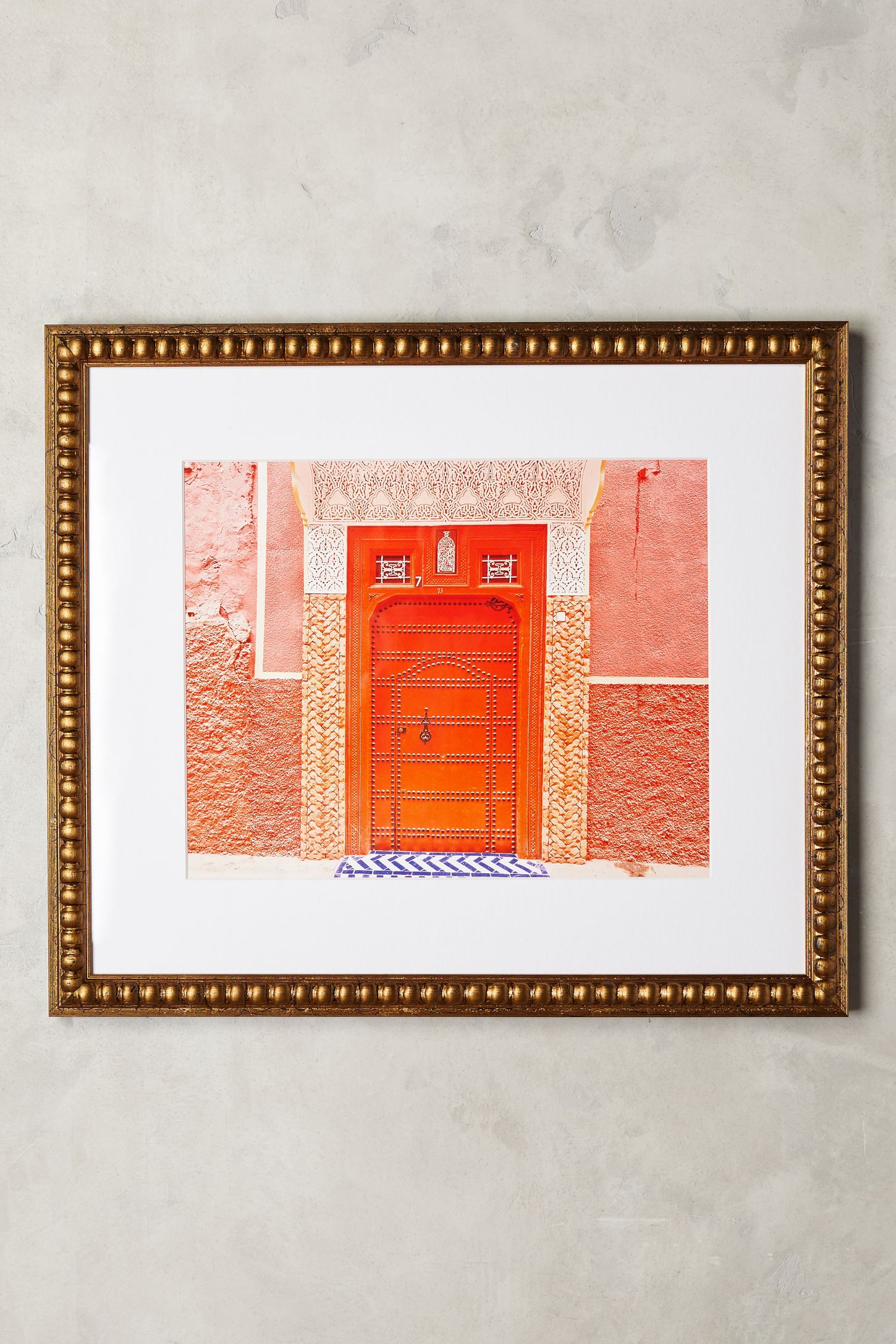 pink city wall art  anthropologie -