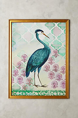 Slide View: 1: Blue Heron Wall Art