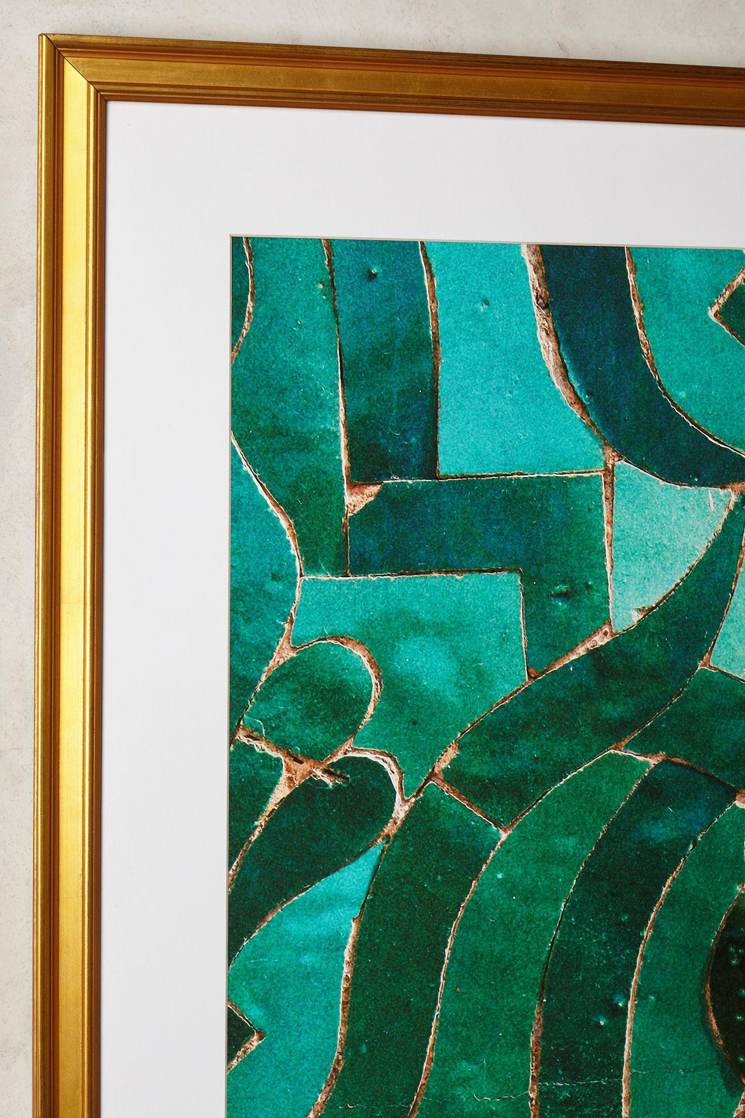 Moroccan Tile Wall Art | Anthropologie