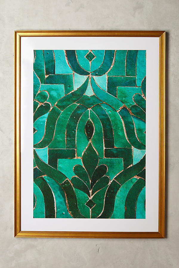 Slide View: 1: Moroccan Tile Wall Art