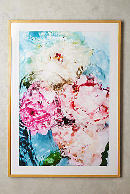 Anthropologie Wall Art abstract floral no. 5 wall art | anthropologie