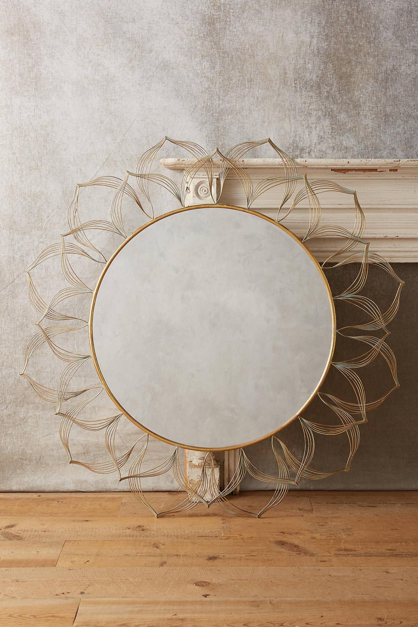Circled Blooms Mirror