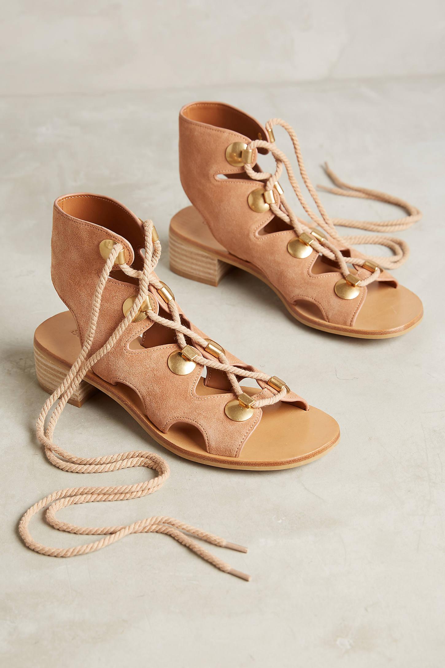 See By Chloe Edna Block Heeled Gladiator Sandals