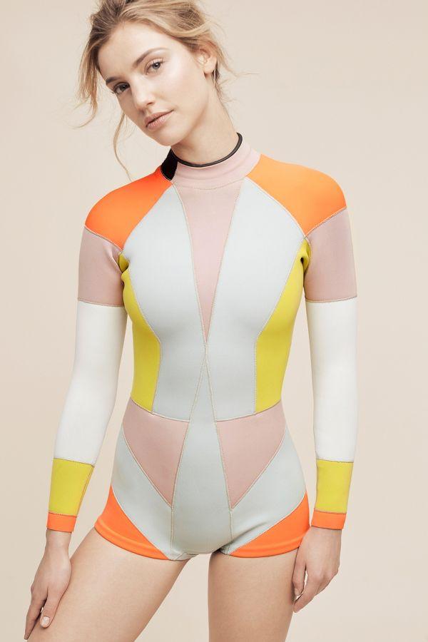 Cynthia Rowley Cynthia Rowley Colorblock Wetsuit