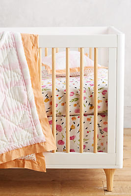 Slide View: 3: Berry & Bloom Crib Skirt