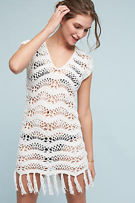 Slide View: 1: Maelys Crocheted Cover-Up Tunic