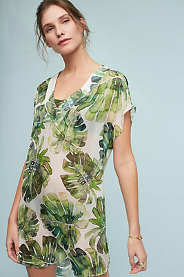 Slide View: 1: Banana Leaf Silk Tunic