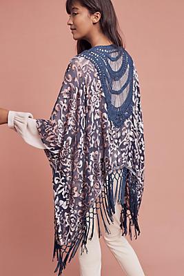 Crocheted Velvet Kimono