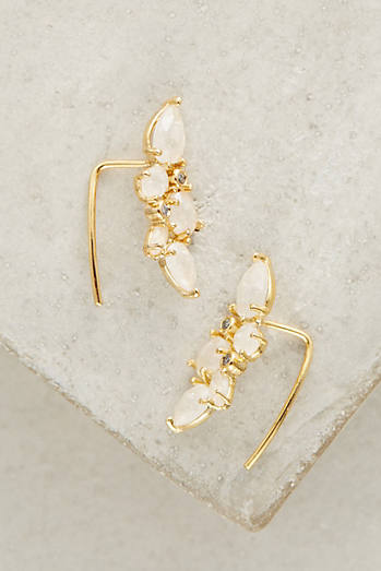 Clustered Crystal Crawler Earrings