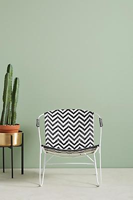 Slide View: 1: Woven Chevron Outdoor Chair