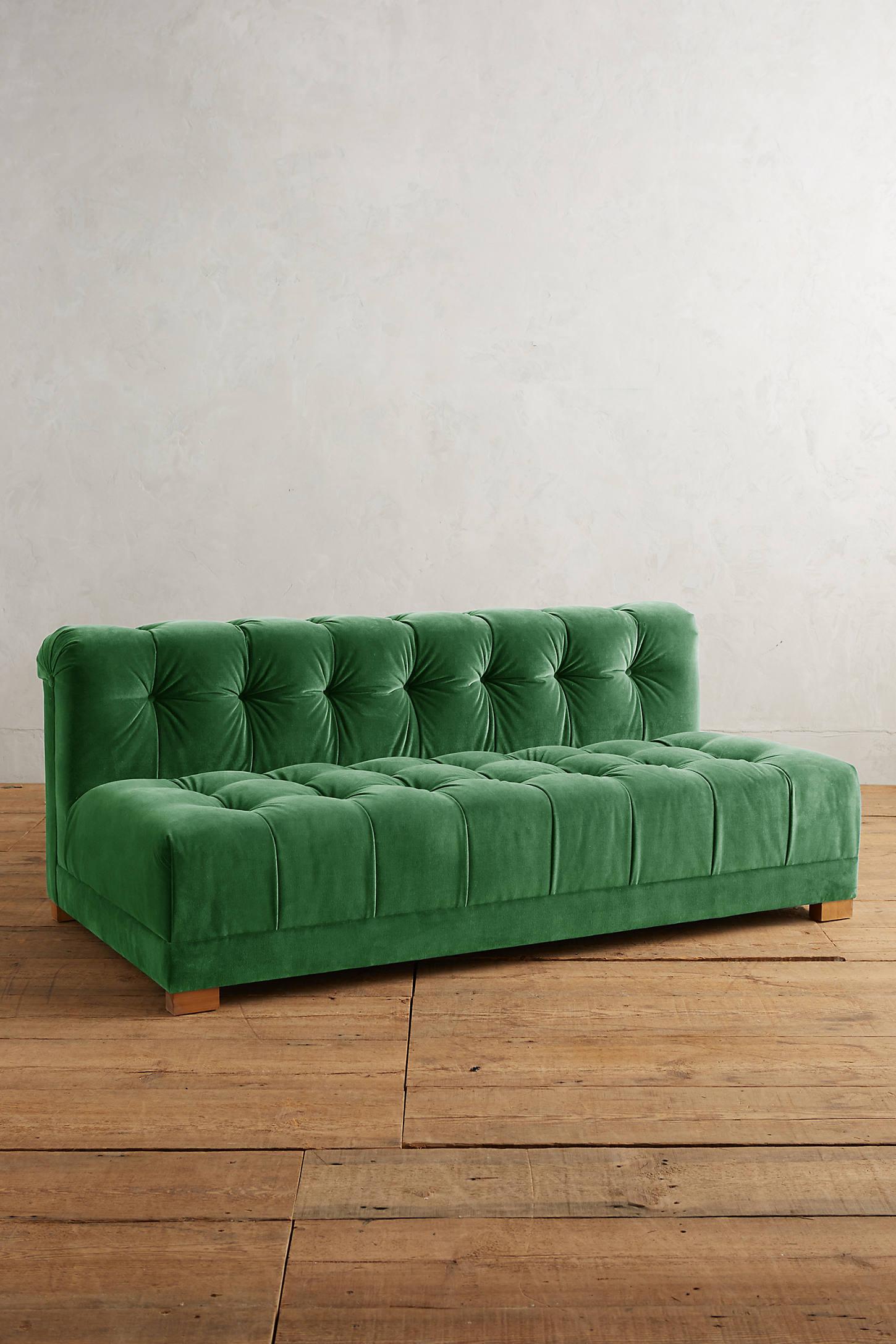 Velvet Kettleby Armless Petite Sofa