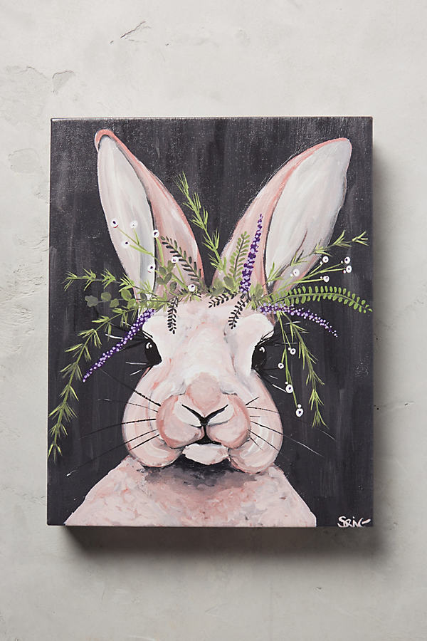 Ralphie Rabbit Wall Art - Carbon