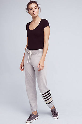 Grey Striped Joggers
